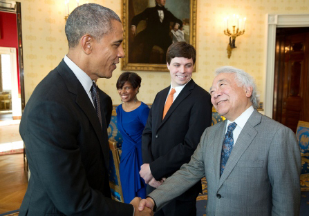Yamamoto helped to stimulate President Barack Obama's interest in precision medicine. (Official White House photo by Pete Souza)