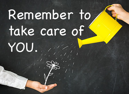 Remember to take care of you! Links to wellness and health.